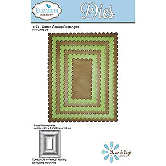 Elizabeth Craft Metal Die-Dotted Scallop Rectangles, 4.25