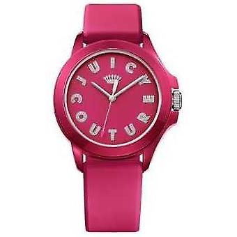 Juicy Couture Womens Fergie Pink Rubber Strap Pink Dial 1901465 Watch