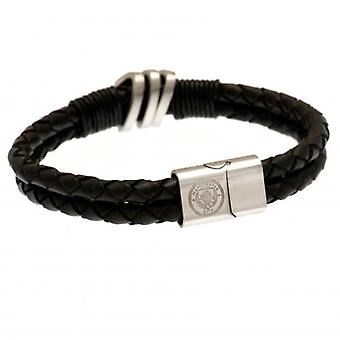 Manchester City Leather Bracelet