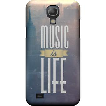 Capa mate Music is life para Galaxy S4 mini