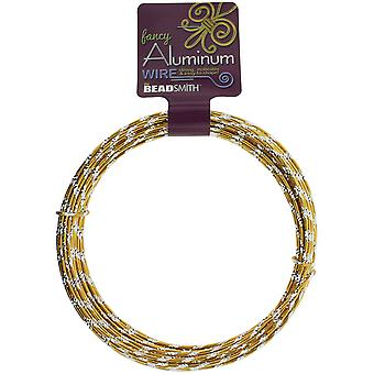 Aluminum Wire Diamond Cut 12 Gauge 12 Meter/Pkg (39.25')-Gold ALDC12-GL