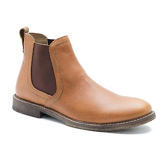 Red Tape Ashton Honey Leather Mens Chelsea Boots