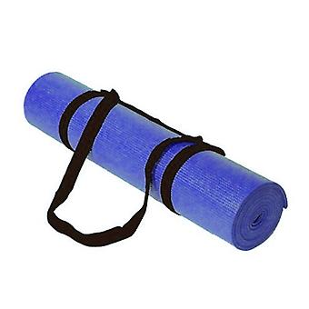 Kabalo - 183cm long x 61cm wide - Non-Slip Yoga Mat with carry strap, also for Exercise / Gym / Camping, etc (Blue)