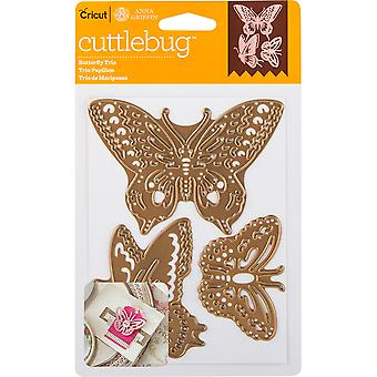 Cuttlebug A2 Cut & Emboss Die-Butterfly Trio 2003465