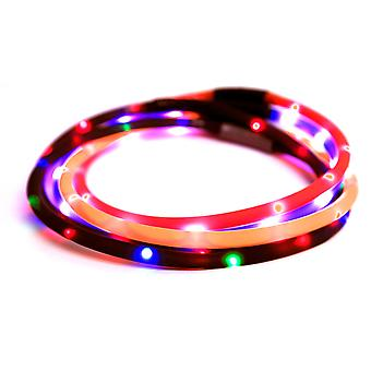 Band lopen Mate Flashing Led blauw 70cm op maat gesneden