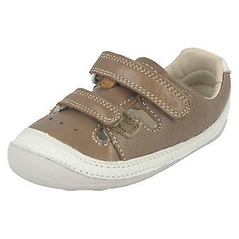 Мальчики для Clarks первые туфли крошечные мальчик