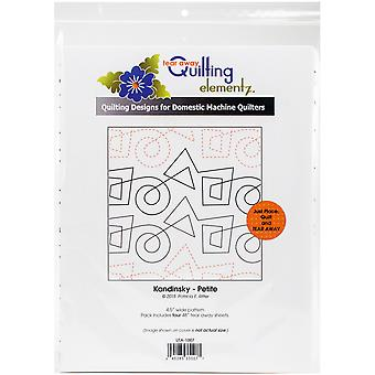 Quilting Creations Printed Tear Away Quilting Paper 4/Pkg-Kandinsky-Petite 4.5