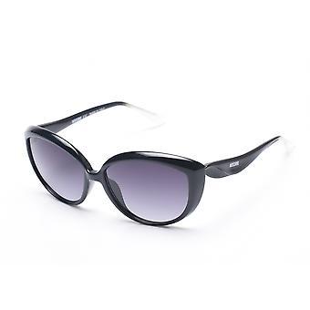 Moschino Frauen übergroße Cat Eye Sonnenbrille schwarz