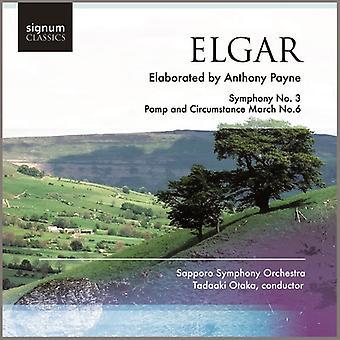 E. Elgar - Elgar / Payne: symfoni No. 3; Pomp og pragt marts No. 6 [CD] USA importerer