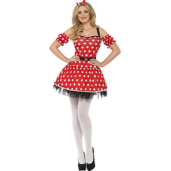 Fever collection Madame Maus costume with dress arm cuffs and mouse ears on headband