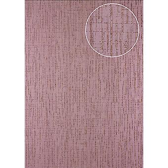 Graphics Atlas 24C-5057-4 non-woven wallpaper wallpaper textured with abstract pattern and metallic effect purple violet copper 7,035 m2
