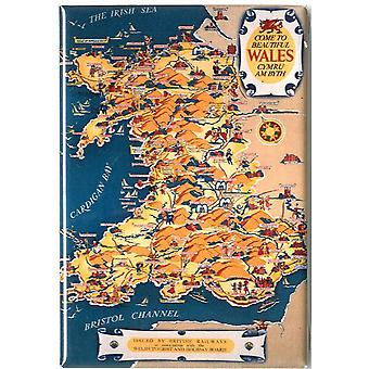 Wales British Railways Map Poster Print Giclee
