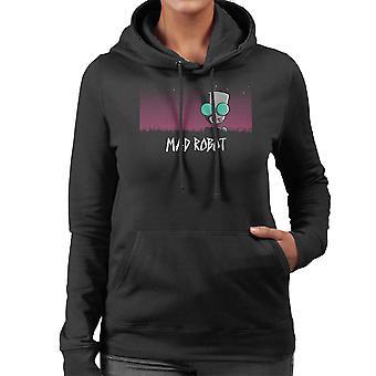 Mad Robot Gir Invader Zim Women's Hooded Sweatshirt