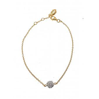 W.A.T Gold Plated Chain Glitterball Bracelet