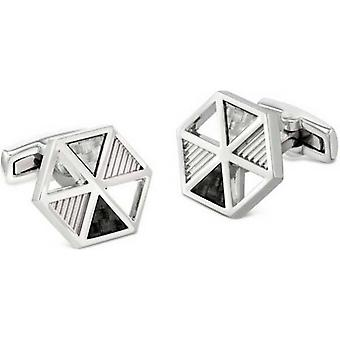 Duncan Walton Gavel Luxury Rhodium Plated Cufflinks - Silver