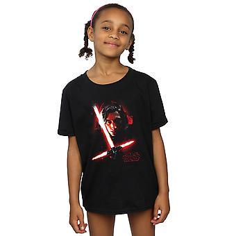 Star Wars Girls die letzten Jedi Kylo Ren gebürstet T-Shirt