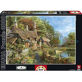Educa Puzzle House flowers 4000 Pieces (Toys , Boardgames , Puzzles)
