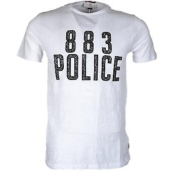 883 Police Chine Slim Fit White T-shirt