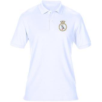HMS Liverpool Logo - ricamato camicia ufficiale Royal Navy Mens Polo