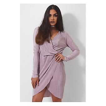 The Fashion Bible Selina Mauve Wrap Dress