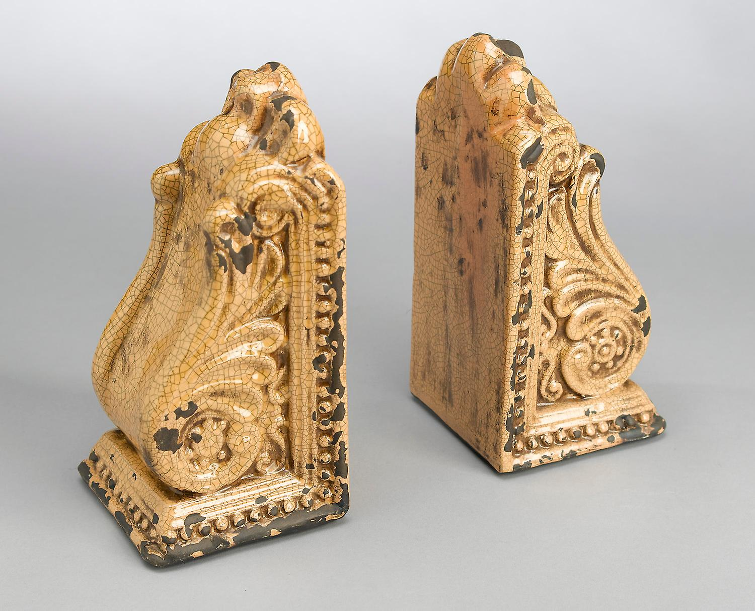 AA Importing 10825-yl jaune Bookend Pair