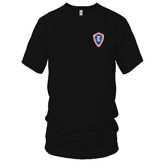 US Navy CV-41 USS Midway Embroidered Patch - E Commander 1982 Mens T Shirt