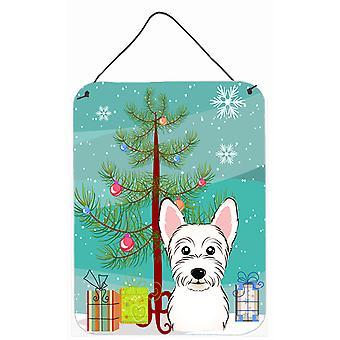 Christmas Tree and Westie Wall or Door Hanging Prints