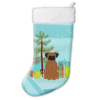 Merry Christmas Tree Brindle Boxer Christmas Stocking