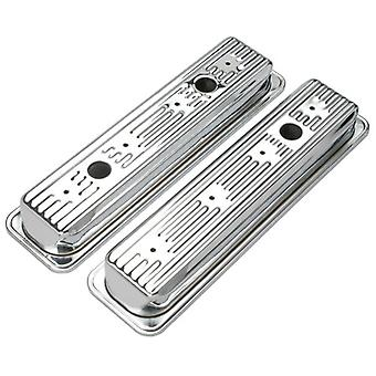 Trans-Dapt 9702 Chrome Valve Covers - Set of 2