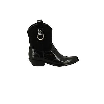 Cesare Paciotti women's 182965O black leather ankle boots