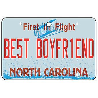 North Carolina - Best Boyfriend License Plate Car Air Freshener