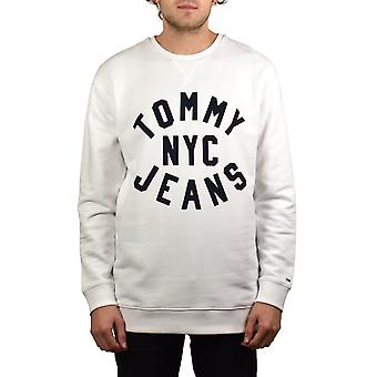 Tommy Jeans Graphic Relaxed Fit Sweatshirt (Classic White)