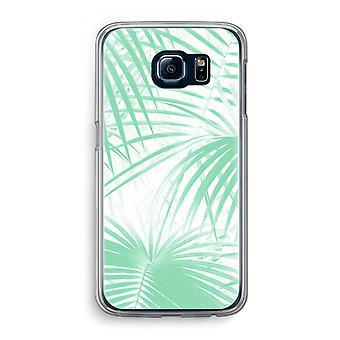 Samsung Galaxy S6 Transparent Case (Soft) - Palm leaves