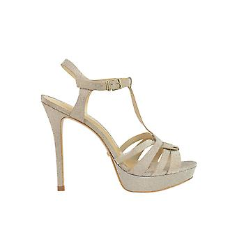 Protection women's MCGLCAT03087E gold leather sandals