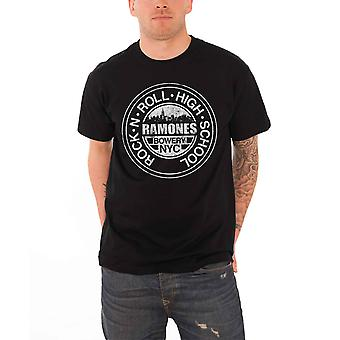 The Ramones Mens T Shirt Black Bowery NYC band logo Official