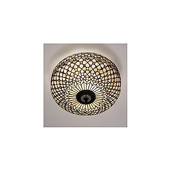 Interiors 1900 FL1 + T021L Mille Feux 2 Light Flush Ceiling Fixture Wi
