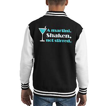A Martini Shaken Not Stirred James Bond Kid's Varsity Jacket