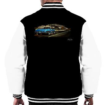 Chevrolet Corvette Stingray Convertible Desert Art Black Men's Varsity Jacket