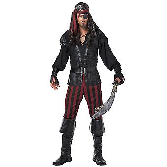 Ruthless Rogue Pirate Swashbuckler Jack Sparrow Story Book Week Men Costume