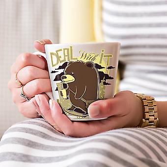 Deal It Bear Funny NEW White Tea Coffee Ceramic Latte Mug 17 oz | Wellcoda
