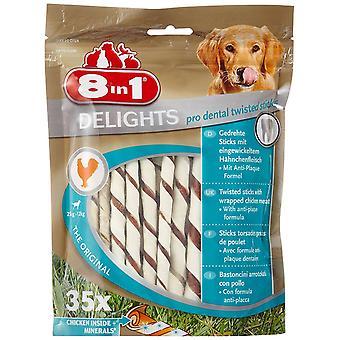 8 w 1 Delights pies traktuje Twist wykałaczek dentystycznych, 35-częściowy