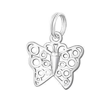 蝶 - スプリット リング 925 純銀製の魅力 - W30049x