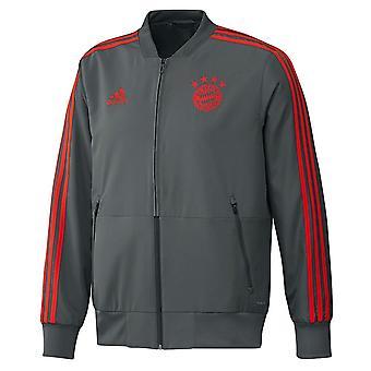 2018-2019 Bayern München Adidas presentatie jas (Utility Ivy)