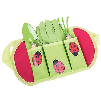 Bigjigs Toys Children's Gardening Belt Gloves, Spade, Fork Kid's Outdoor Garden