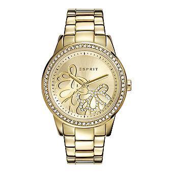 Esprit Damen Uhr Armbanduhr Kylie Edelstahl Gold ES108122005