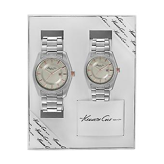 Kenneth Cole New York watch set analog stainless steel 10018124 / KC7017