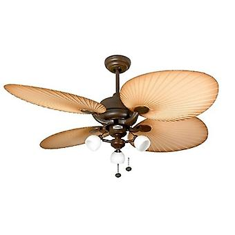 Outdoor Ceiling Fan Palm marrone con Florence luce