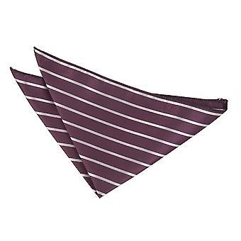 Paarse & zilveren één streep zakdoek / Pocket Square
