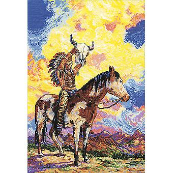 Native American Sunset Counted Cross Stitch Kit-12