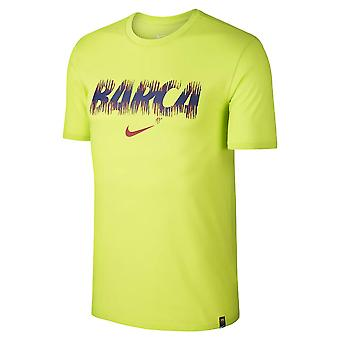 2018-2019 Barcelona Nike Dry Pre Season Tee (Volt)